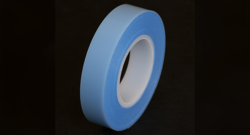 Blue Tape on black background
